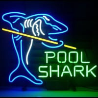 New Pool Shark Billiards Gameroom Neon Bière Bar Pub Enseigne